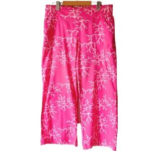 Lilly Pulitzer Color Me Crazy Pink Beach Pants M